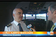 AES IN ROME FIUMICINO AIRPORT ON TV NEWS