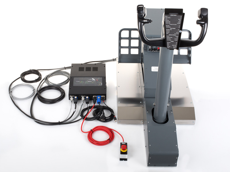 FSC-B737NG-YOKE-SINGLE-CONTROL-LOADING-WITH-RUDDER-PEDALS-CABLING