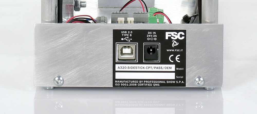 Fsc a320 sidestick pro OEM captain connections panel