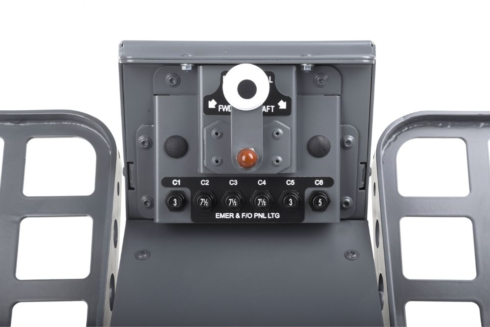 FSC B737NG UPFLOOR RUDDER PEDALS FO ADJUSTMENT CLOSE UP