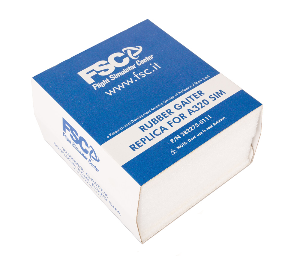 FSC A320 sidestick rubber gaiters with frames box