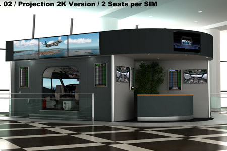 IAMS 02 with 2 x B737 Simulators, 2 Seats, 2K projection