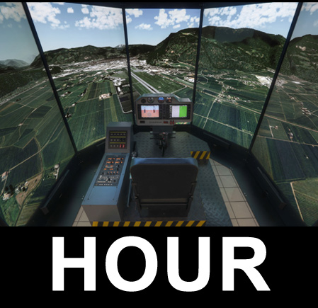 Helicopter simulator UHD 4K (1DAY-RENT)