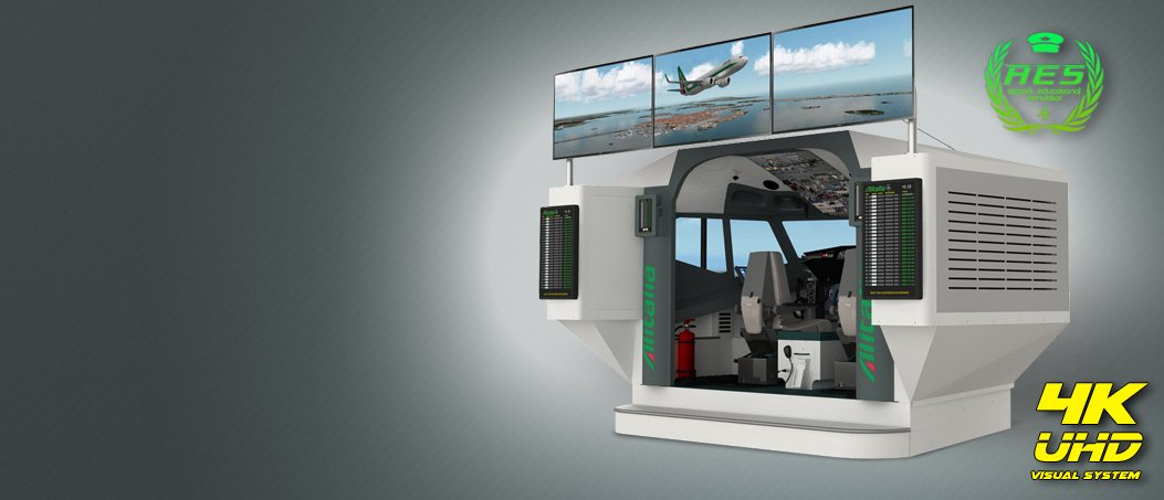 737NG Airport Educational Simulator 5 monitor 4K UHD visual