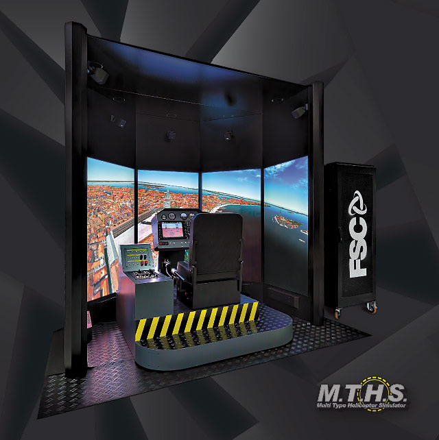 "FSC MTHS 65"" HELICOPTER FLIGHT SIMULATOR 34 VIEW"