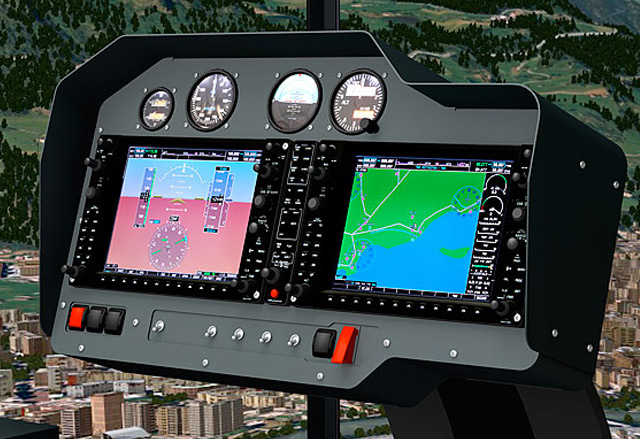 "FSC MTHS 65"" HELICOPTER FLIGHT SIMULATOR GARMIN PANEL"