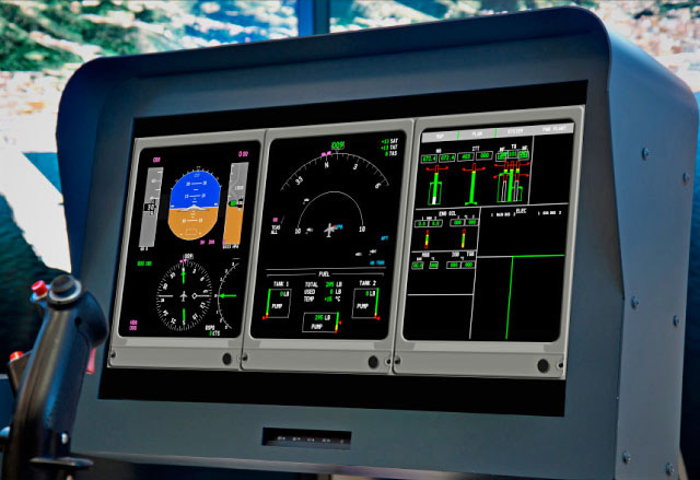"FSC MTHS 65"" HELICOPTER FLIGHT SIMULATOR TOUCH PANEL"