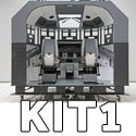 737NG complete cabin Kit 1 for 7 monitor visual