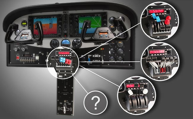 FSC BARON 58 CESSNA CONSOLE THROTTLE CHANGE