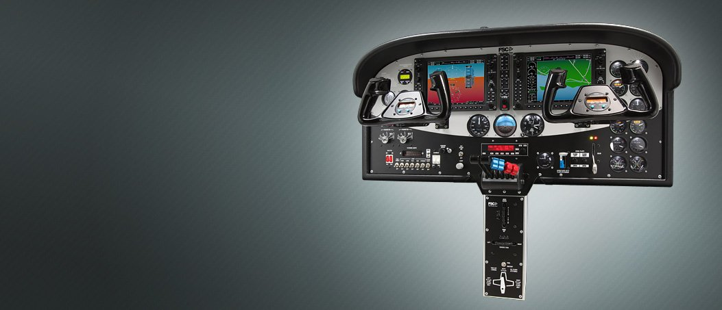 C172S G1000 - Baron58 G1000 cockpit simulator with Dual Yoke Linked.