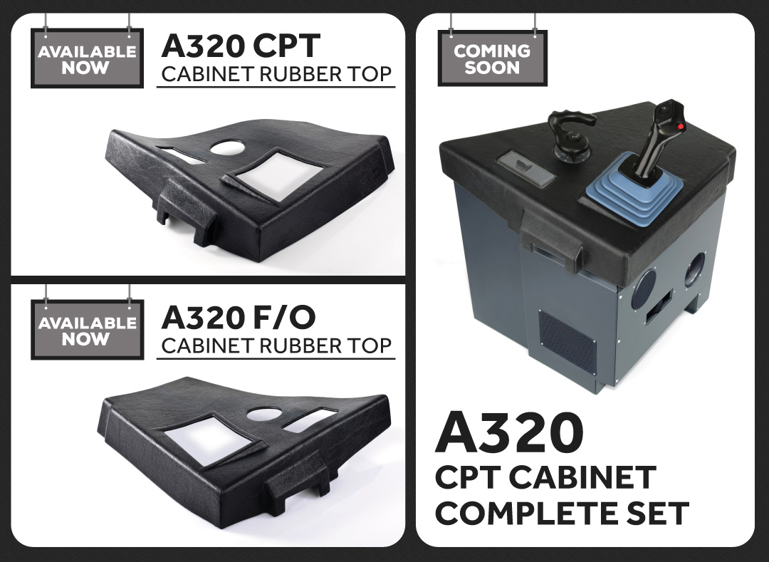 FSC A320 FORWARD LATERAL CONSOLE CPT FULL SET