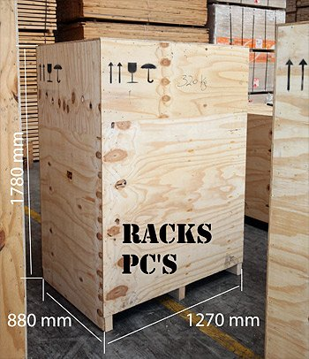 FSC B737 PC RACKS WOOD BOX DIMENSIONS
