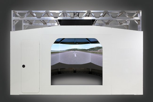 Screen structure with 180° Videoprojection