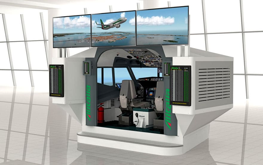 FSC B737 AES airport educational simulator 4K UHD