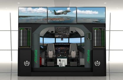FSC B737 AES airport educational simulator 2K black