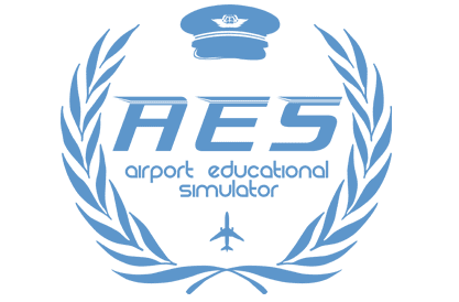 FSC B737 AES airport educational simulator logo