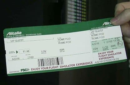 FSC AES B737 BOARDING PASS INTEGRATED