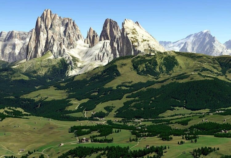 FSC DOLOMITI 3D VEGETATION AREAS